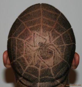 uomo ragno, Taglio capelli Facile